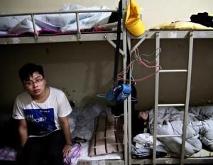 Dormitori della Foxconn in Cina.