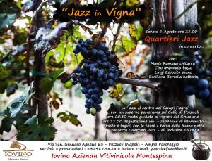 locandina 1 agosto Jazz in vigna
