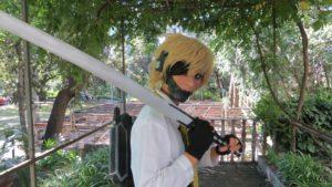 Direttamente da Metal Gear Rising: Revengeance Makiko Onda si aggirava nei panni di Raiden in versione femminile