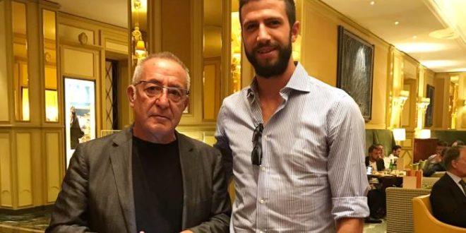 Il presidente Oreste Vigorito con Pietro Iemmello - Ph. © Ottopagine.it