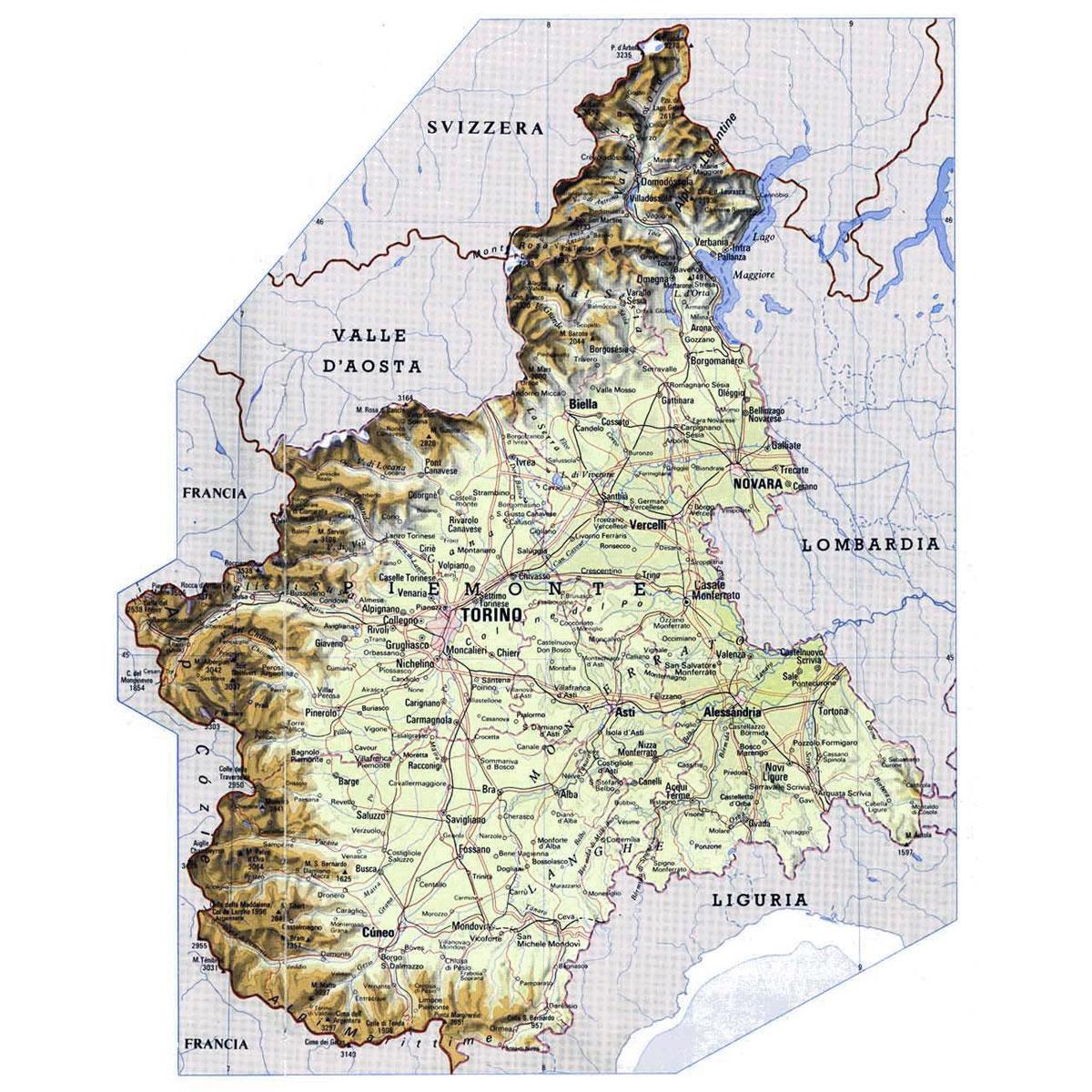Regione Piemonte Cartina Fisica.Itineriario Letterario Regionale Piemonte Senza Linea