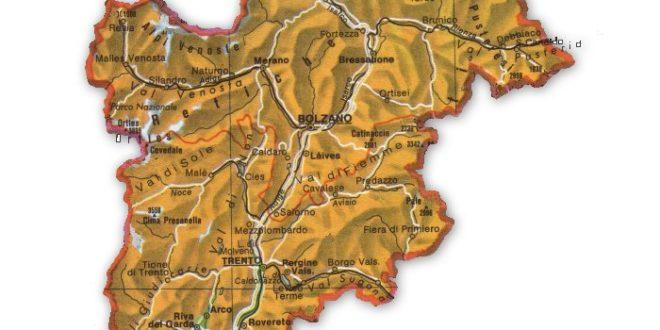 Trentino Alto Adige Cartina Fisica E Politica.Itinerario Letterario Regionale Trentino Alto Adige Senza Linea