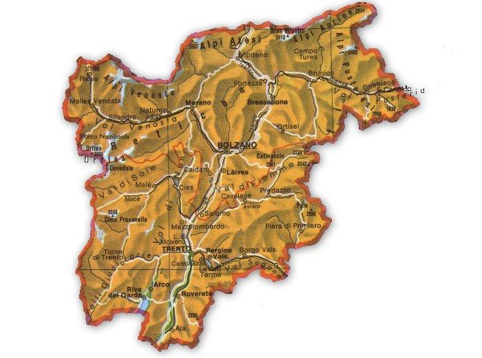 Cartina Geografica Muta Del Trentino Alto Adige.Itinerario Letterario Regionale Trentino Alto Adige Senza Linea