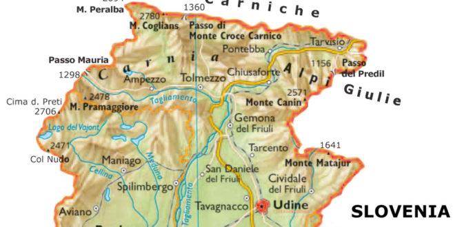 Cartina Fisica Del Friuli Venezia Giulia.Itinerario Letterario Regionale Friuli Venezia Giulia Senza Linea