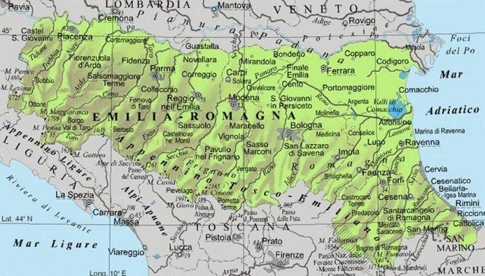 Cartina Geografica Regione Emilia Romagna.Itinerario Letterario Regionale Emilia Romagna Senza Linea