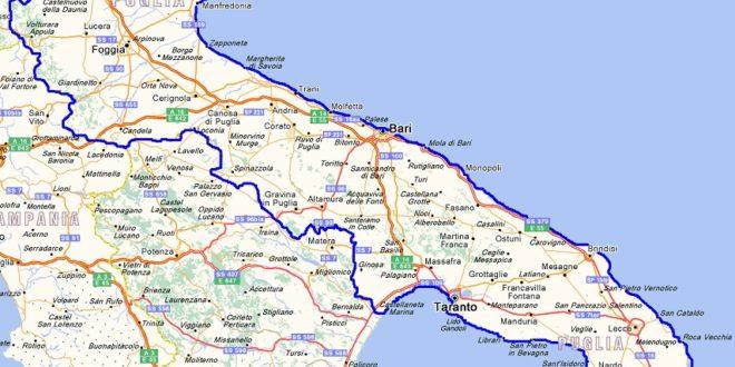 Cartina Itinerari Puglia.Itinerario Letterario Regionale Puglia Senza Linea